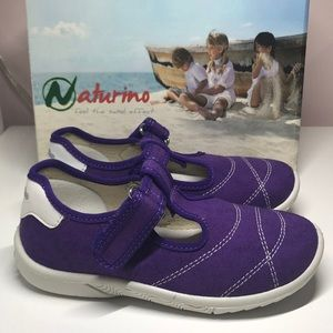 Naturino Toddler Girl Purple Sneakers Shoes *11